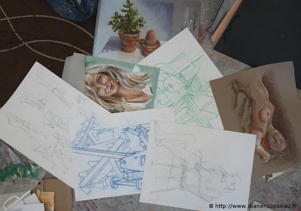 Planches d'études, Diane Rousseau