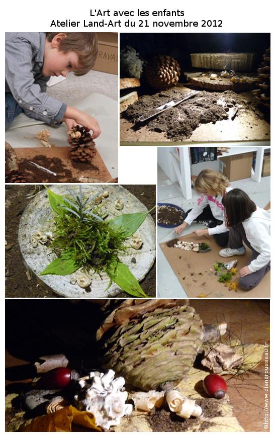 Land art Diane Rousseau arts plastiques enfants