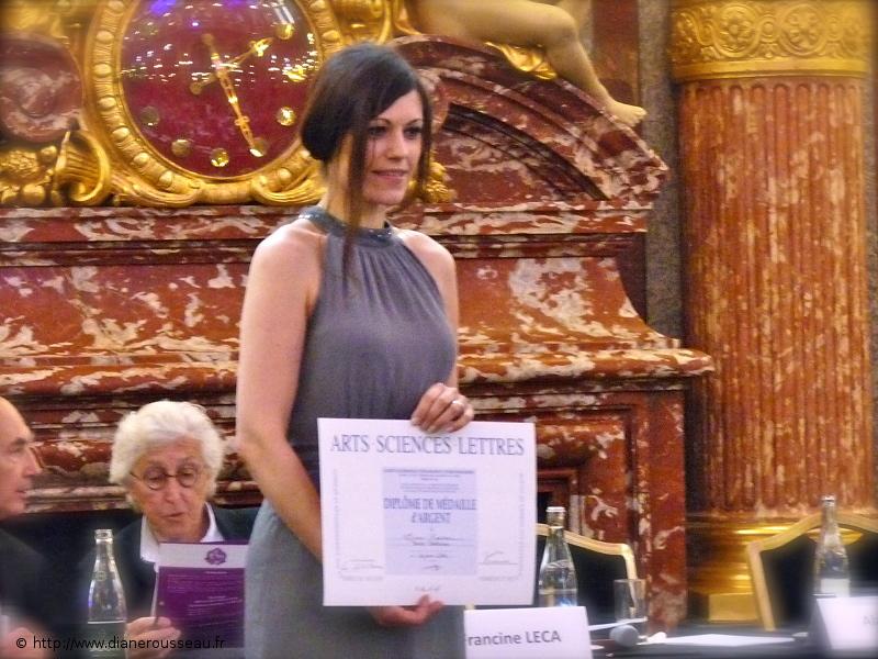 Diane Rousseau, cérémonie Arts-Sciences-Lettres 2014