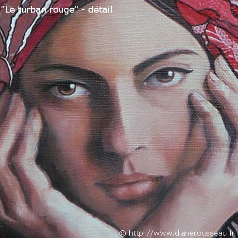 Le turban rouge, detail - Diane Rousseau