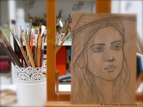 Icône tourmaline, esquisse - Diane Rousseau