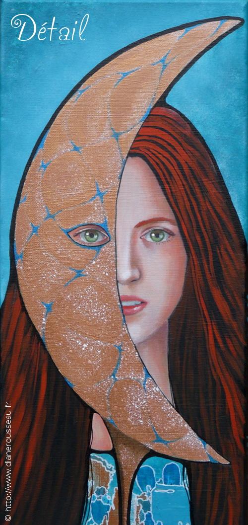 La lune du matin (détail), Diane Rousseau