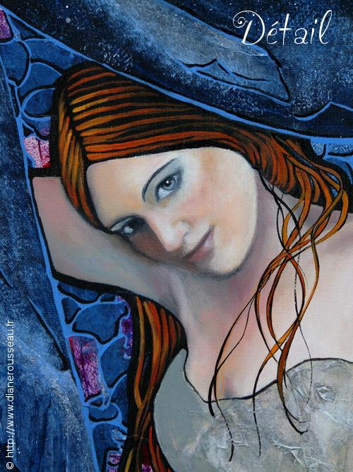 Le manteau de la nuit (détail), Diane Rousseau