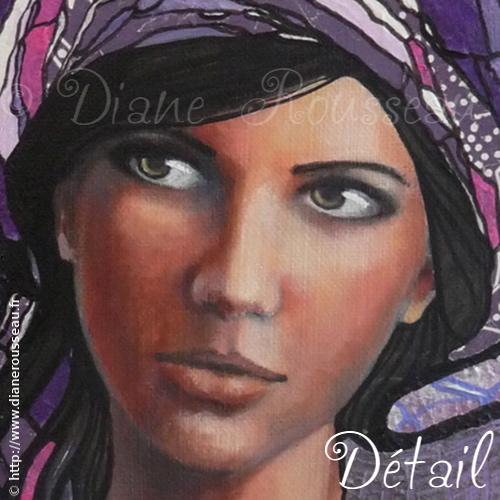 Le petit turban violet (détail), Diane Rousseau
