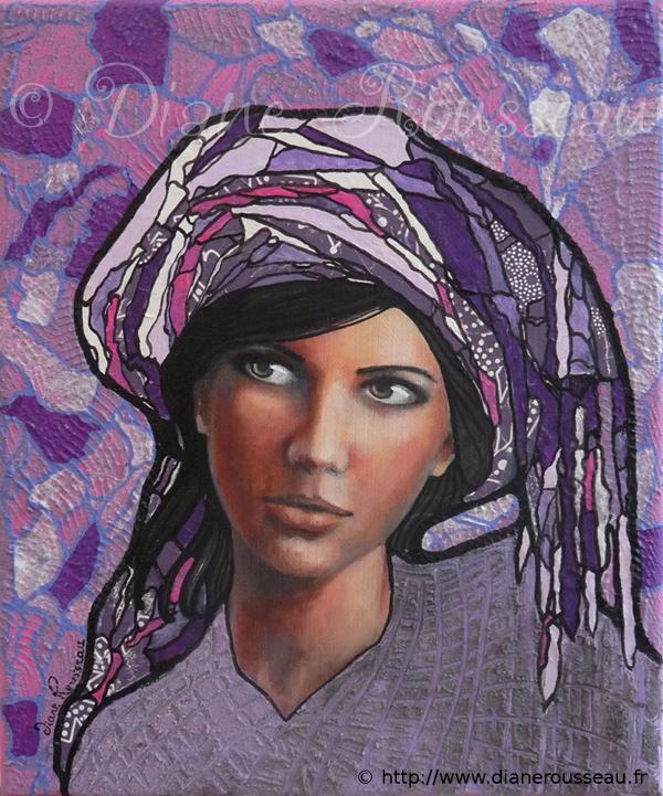 Le petit turban violet, Diane Rousseau