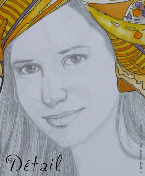 Le turban d'eau jaune (détail), Diane Rousseau