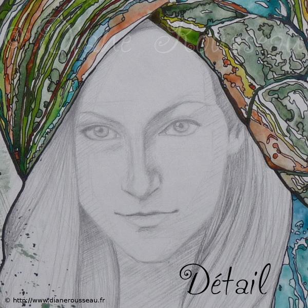 Le turban d'eau vert (détail), Diane Rousseau