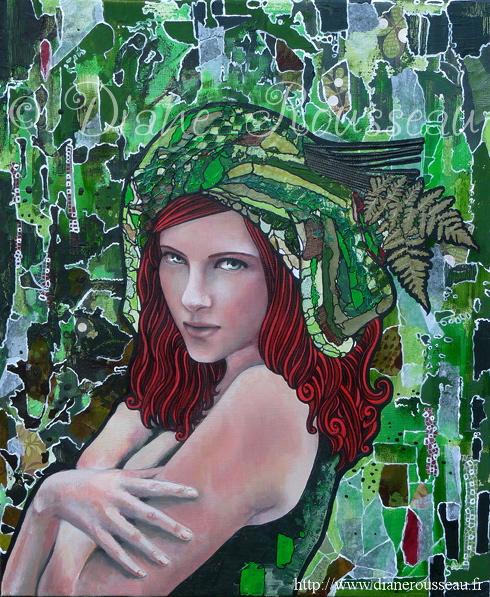 Diane Rousseau, le turban vert