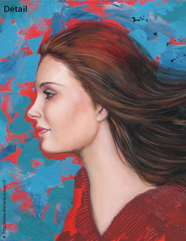 Les chevaux du vent, Diane Rousseau, peinture, acrylique, élément air, art visionnaire, symbolisme, imaginaire