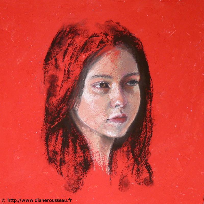 portrait pastel Diane Rousseau, mademoiselle H