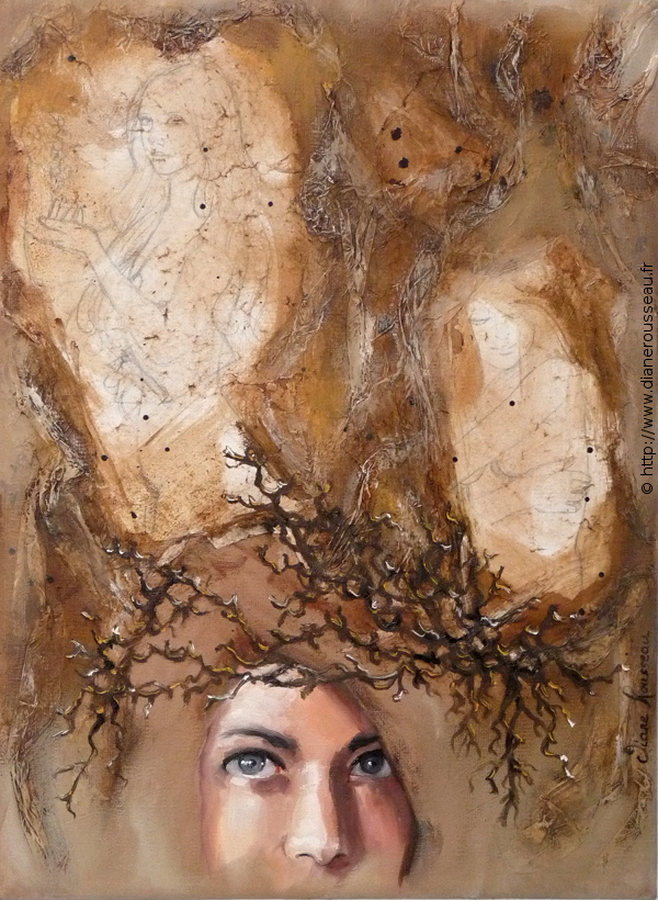 Présence Christique, Diane Rousseau, Aeternalis, portrait, peinture, spiritualité, huile, alla prima