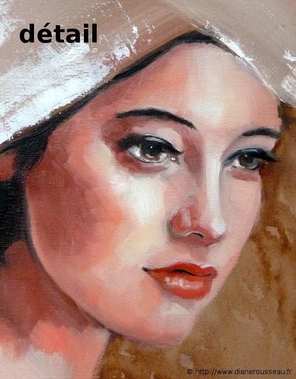 Tsunokakushi, Diane Rousseau, Aeternalis, portrait, peinture, mariée japonaise, huile, alla prima