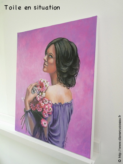Jeune femme au bouquet, Diane Rousseau